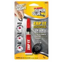 Zap It Light Curing Glue that Bonds Virtually Everything $0.01