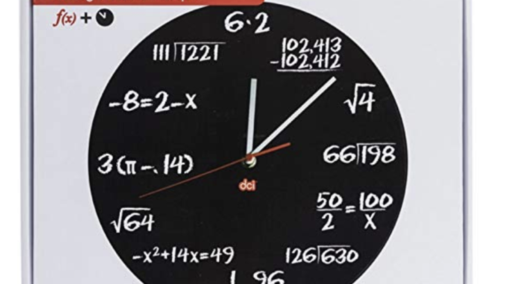 Mathematics Pop Quiz Clock $20